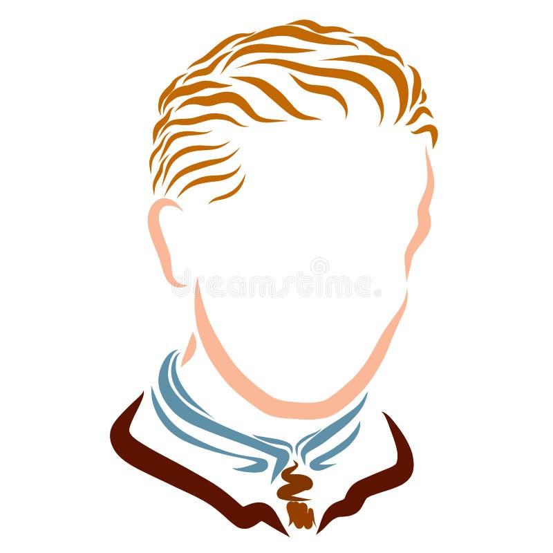 Homem novo na roupa clássica do negócio com um penteado clássico ilustração stock