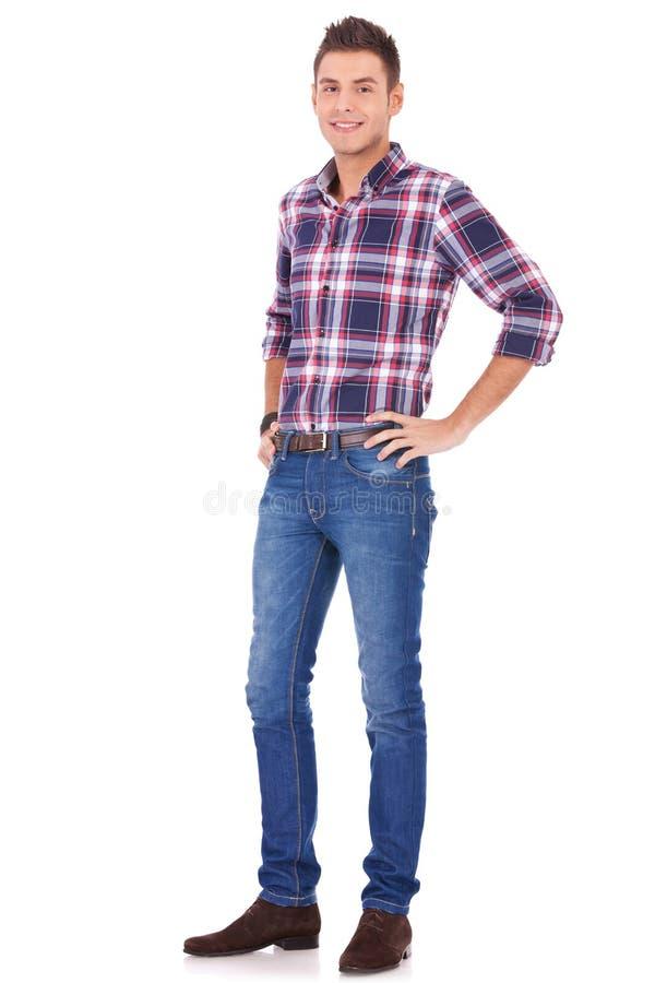 Homem novo na roupa ocasional imagens de stock