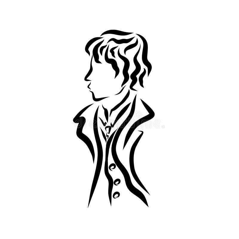 Homem novo no negócio ou no vestuário formal ilustração royalty free