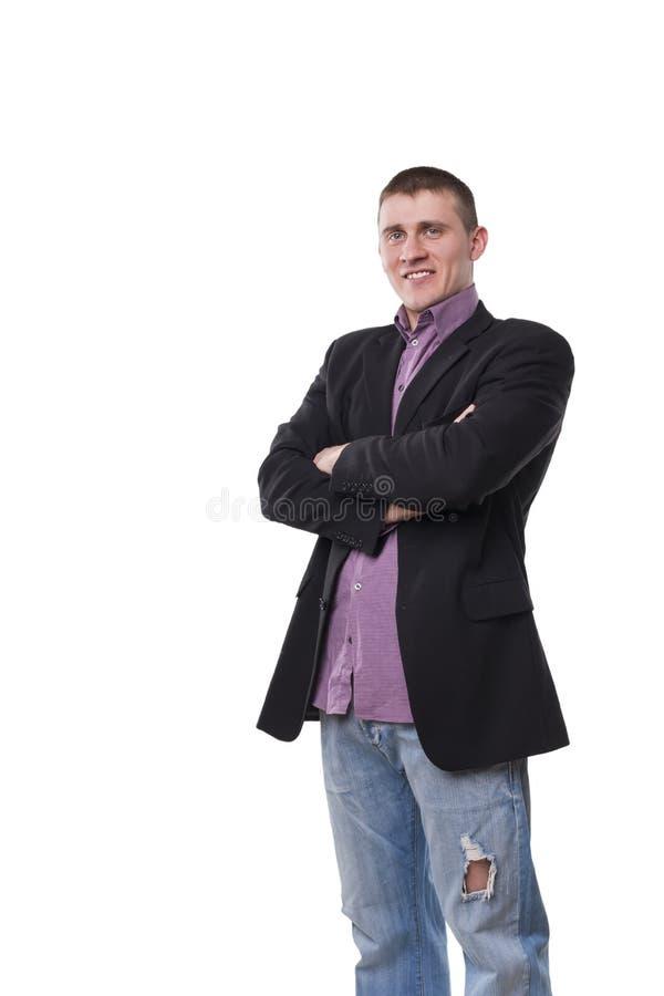 Homem novo no terno imagens de stock