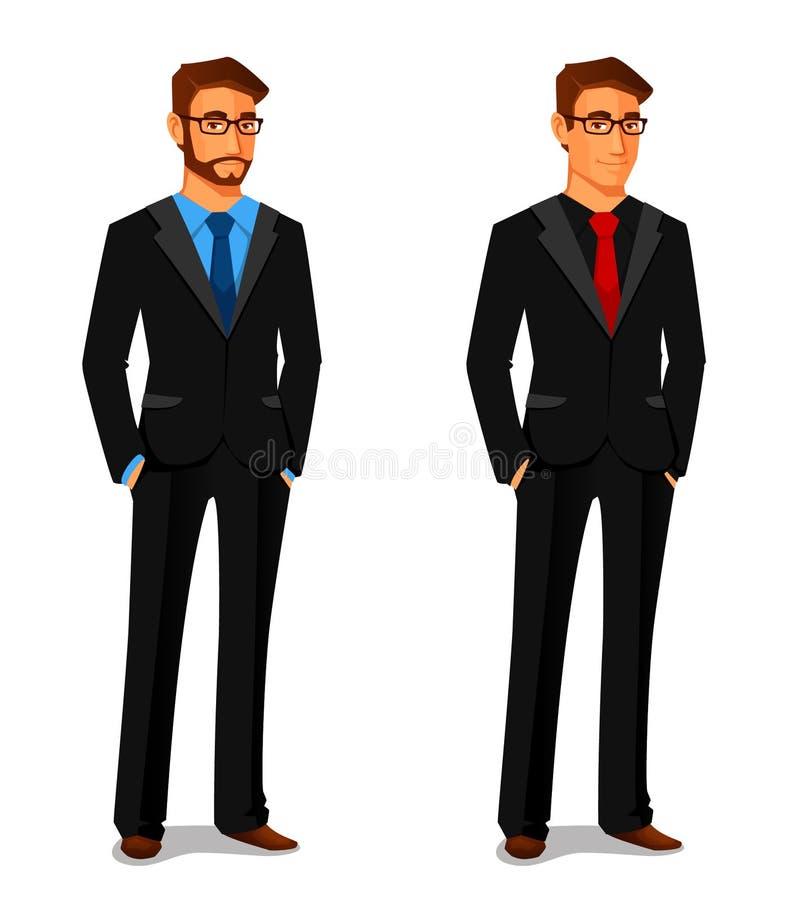 Homem novo no terno de negócio ilustração do vetor