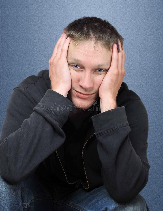 Homem novo Tired foto de stock