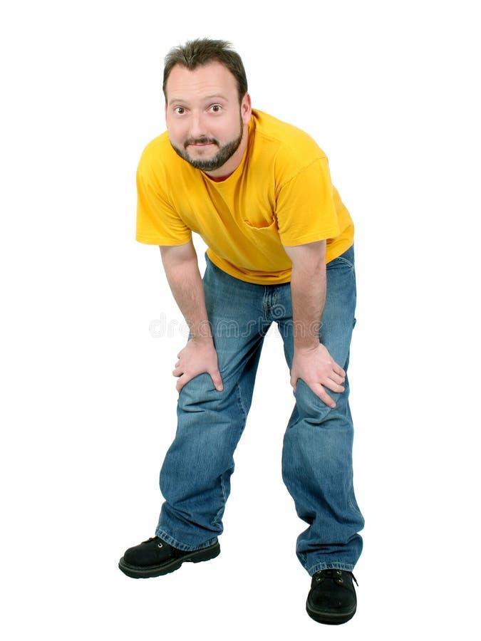 Download Homem Ocasional Dos Anos De Idade 30 Sobre O Branco Foto de Stock - Imagem de moustache, camisa: 112702