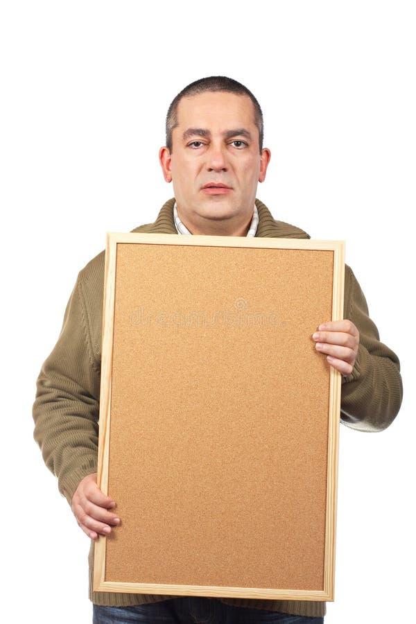 Homem ocasional sério fotografia de stock