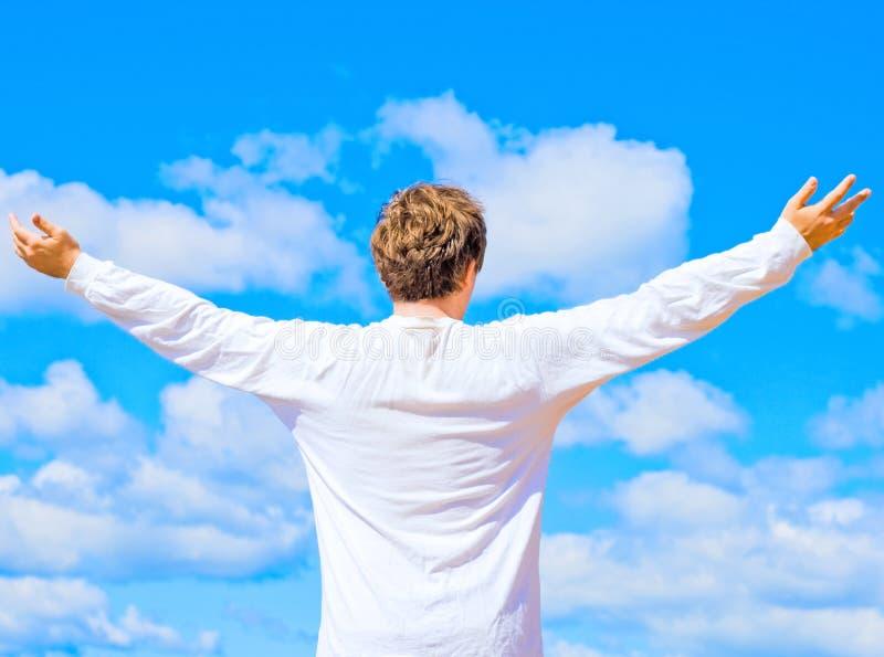 Homem ou deus? fotografia de stock royalty free
