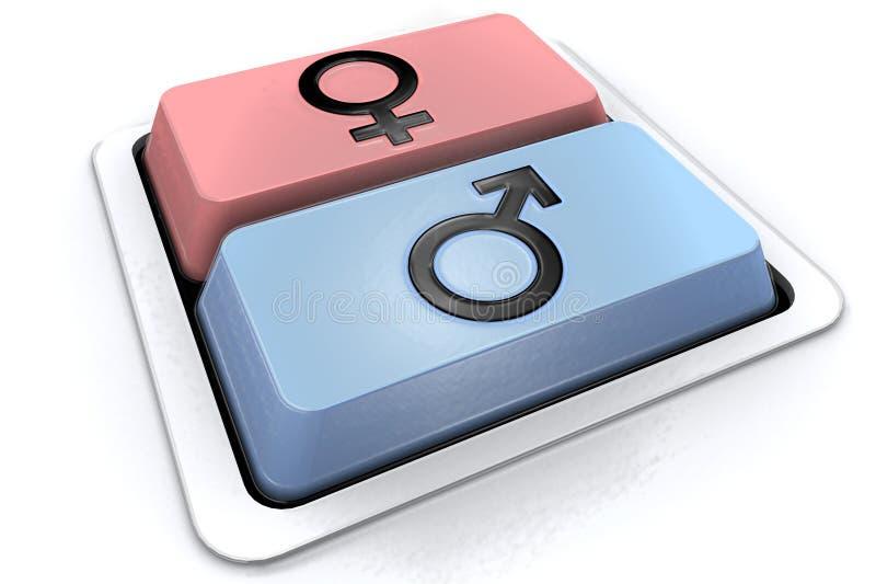 Homem ou mulher ilustração do vetor