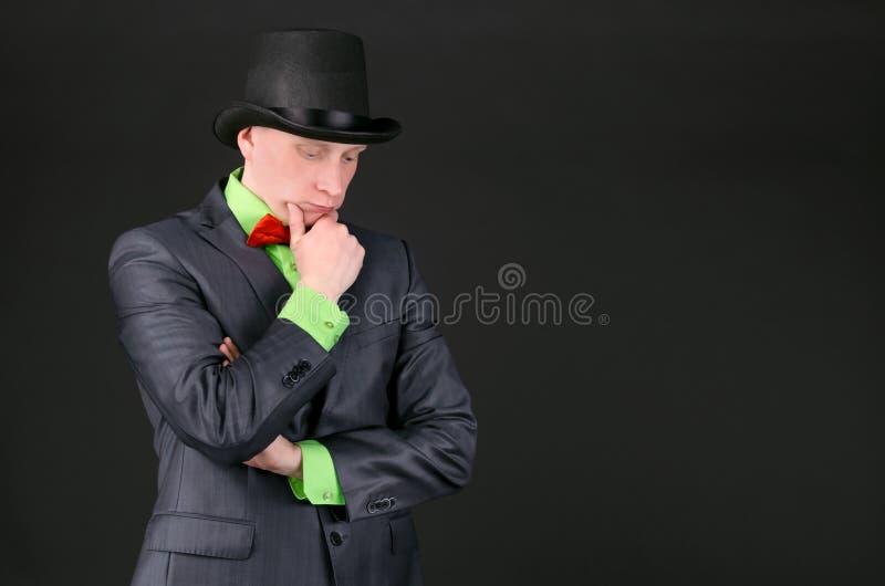 Homem pensativo imagens de stock