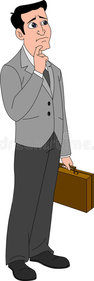 Homem preocupado ilustração royalty free
