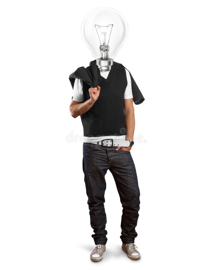 Homem principal da lâmpada fotos de stock