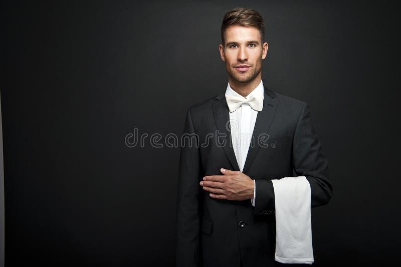 Homem profissional do garçom fotos de stock royalty free