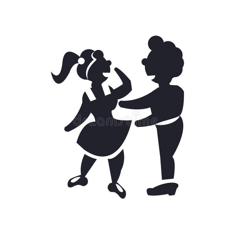 Homem que abraça o sinal e o símbolo do vetor do ícone isolados no fundo branco, homem que abraça o conceito do logotipo ilustração stock