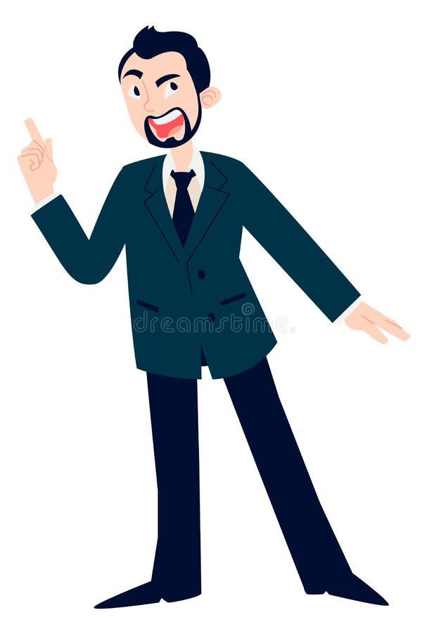Homem que aponta acima ilustração stock