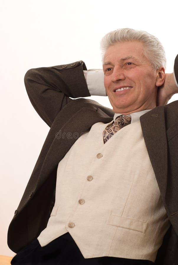 Homem que aponta para cima imagem de stock royalty free