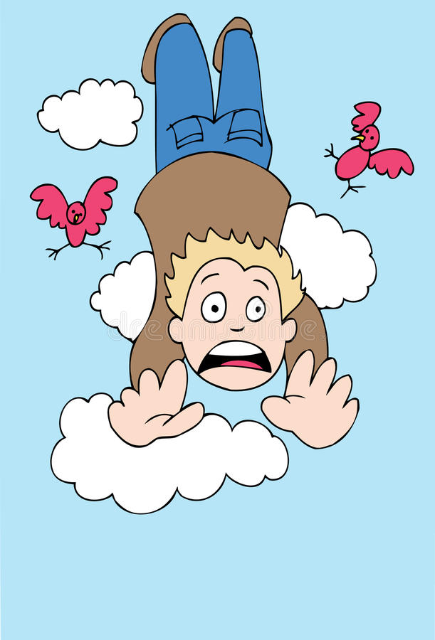 Homem que cai para baixo ilustração royalty free