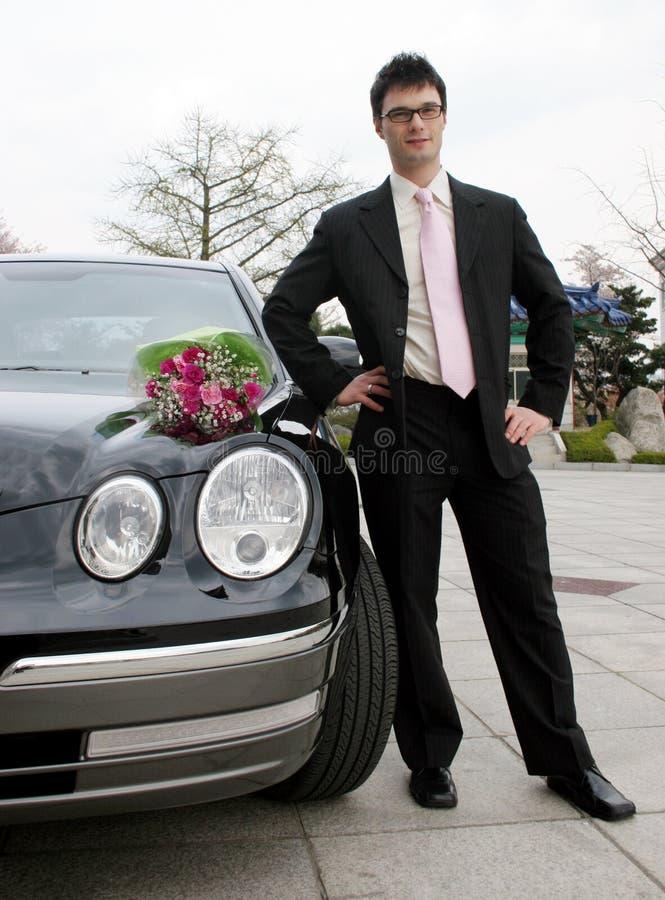 Homem que espera sua tâmara imagem de stock royalty free
