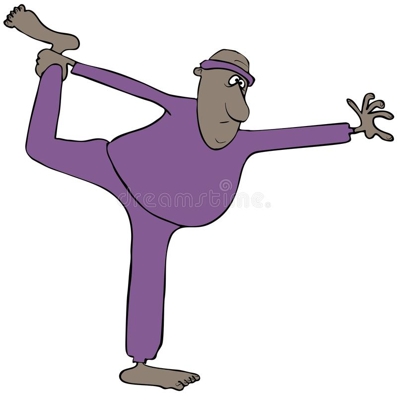 Homem que faz estiramentos ilustração royalty free