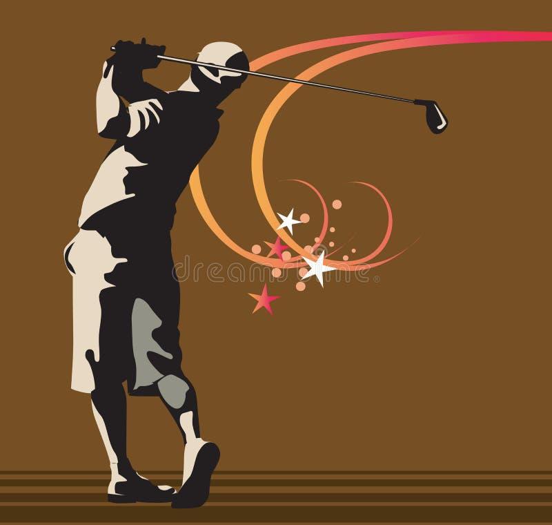 Homem que joga o golfe ilustração royalty free