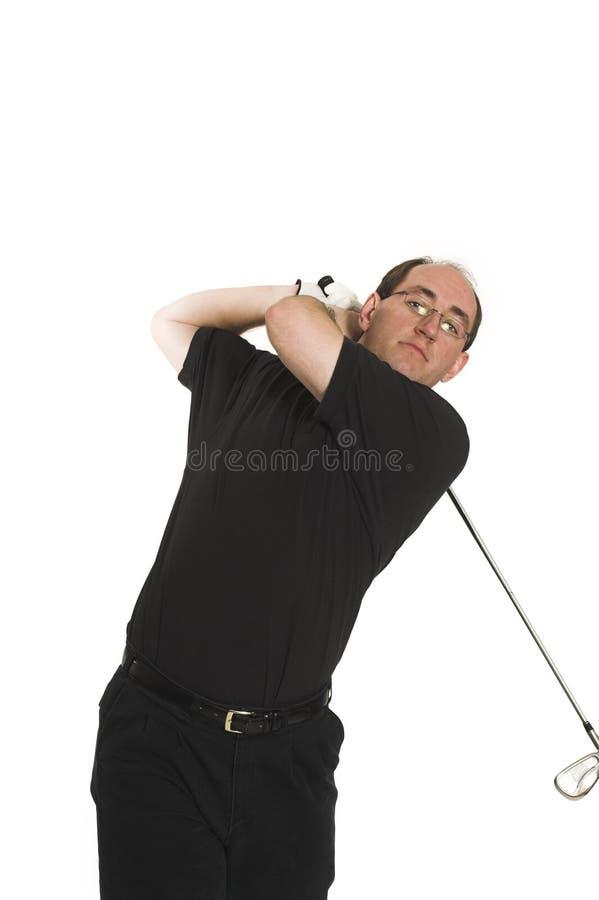 Homem que joga o golfe imagens de stock royalty free