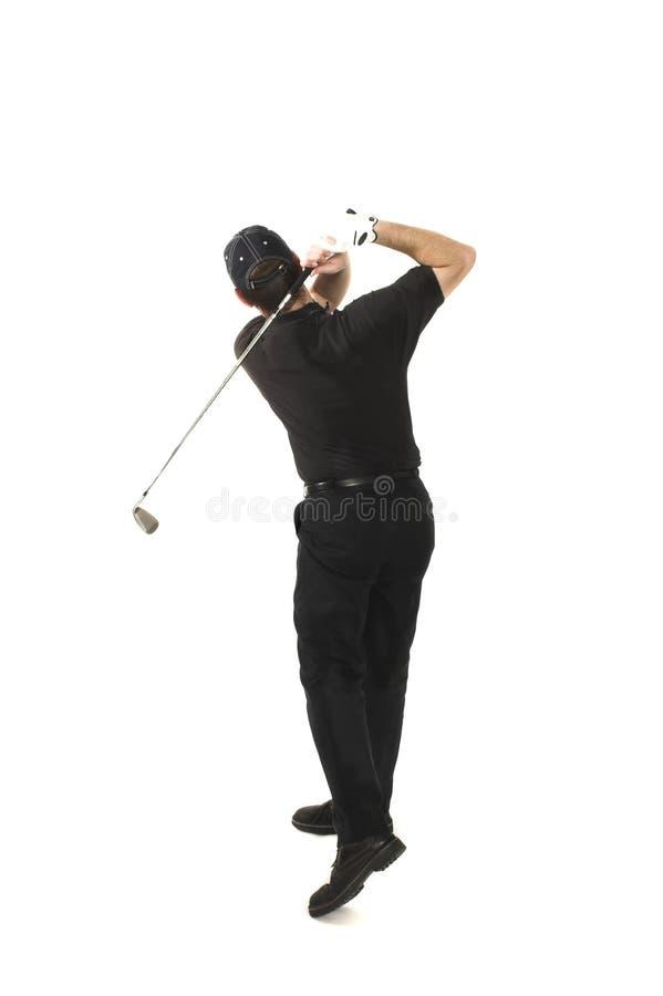 Homem que joga o golfe foto de stock royalty free