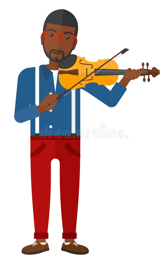 Homem que joga o violino ilustração royalty free