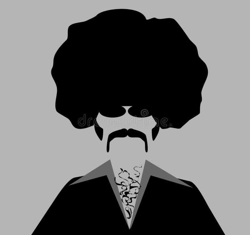 Homem retro com afro ilustração do vetor