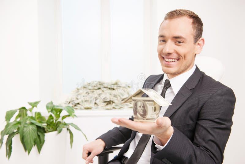 Homem rico. imagens de stock royalty free