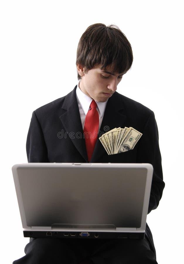 Homem Rico Do Trabalhador Fotografia de Stock Royalty Free