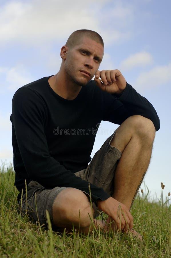 Homem romântico fotos de stock