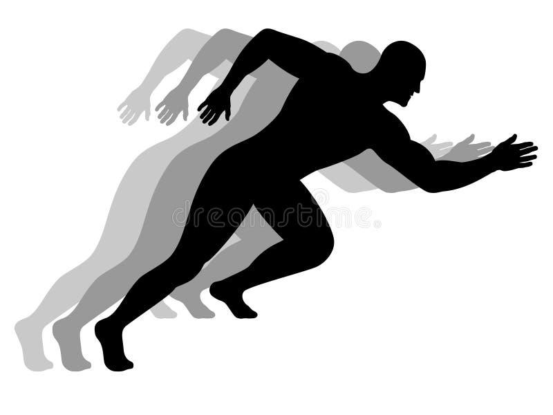 Homem Running ilustração do vetor
