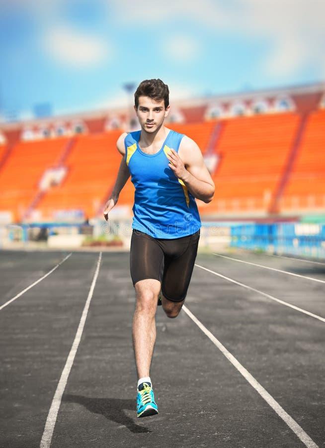 Homem Running foto de stock royalty free