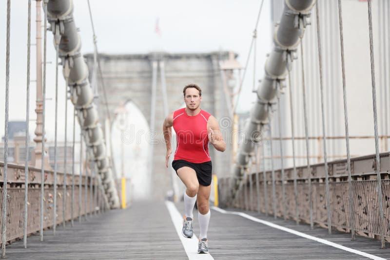 Homem Running do corredor fotos de stock