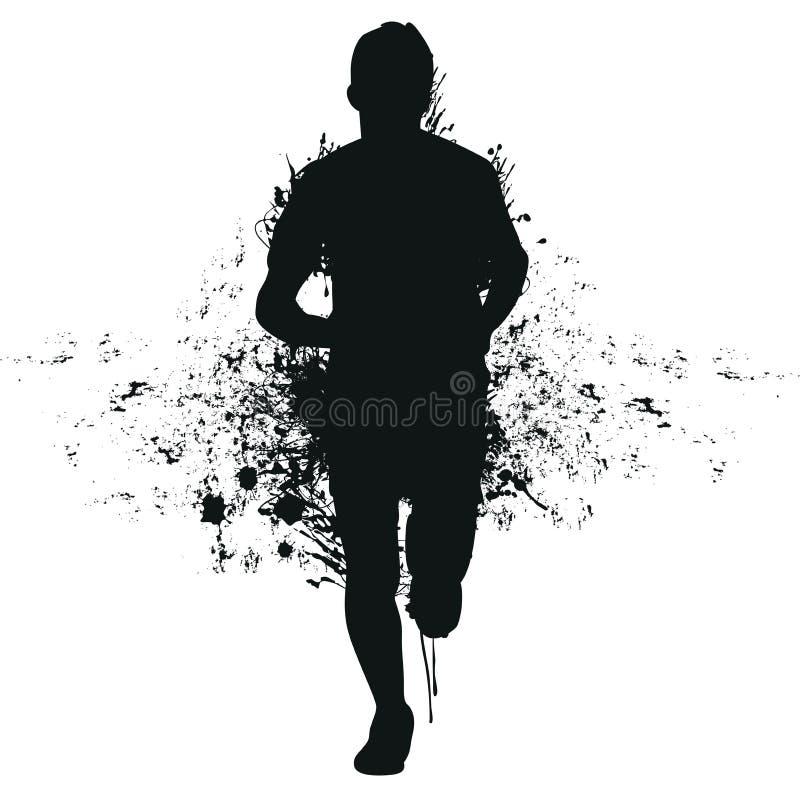 Homem Running do respingo ilustração stock