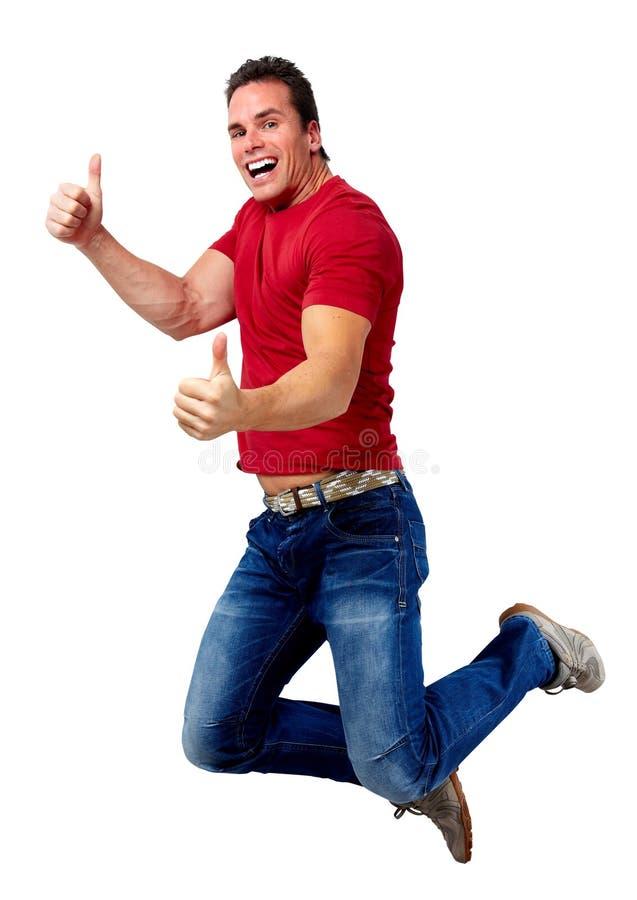 Homem running feliz imagem de stock royalty free