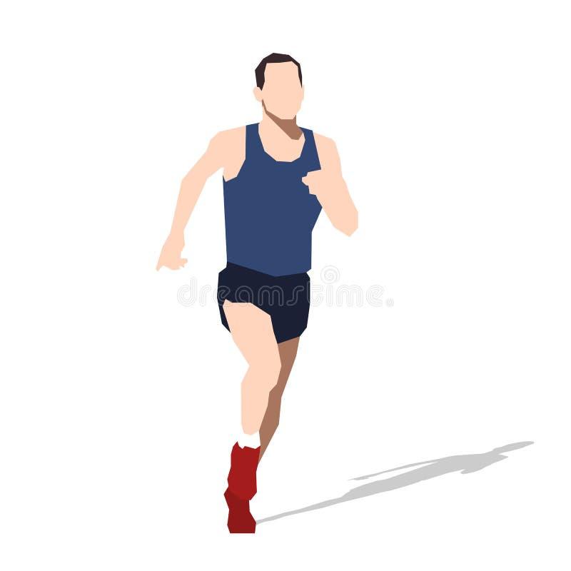 Homem running, ilustração lisa do vetor ilustração royalty free