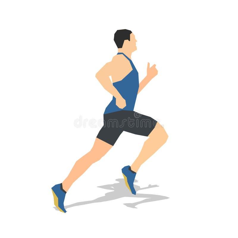 Homem running, projeto liso Corredor abstrato ilustração do vetor