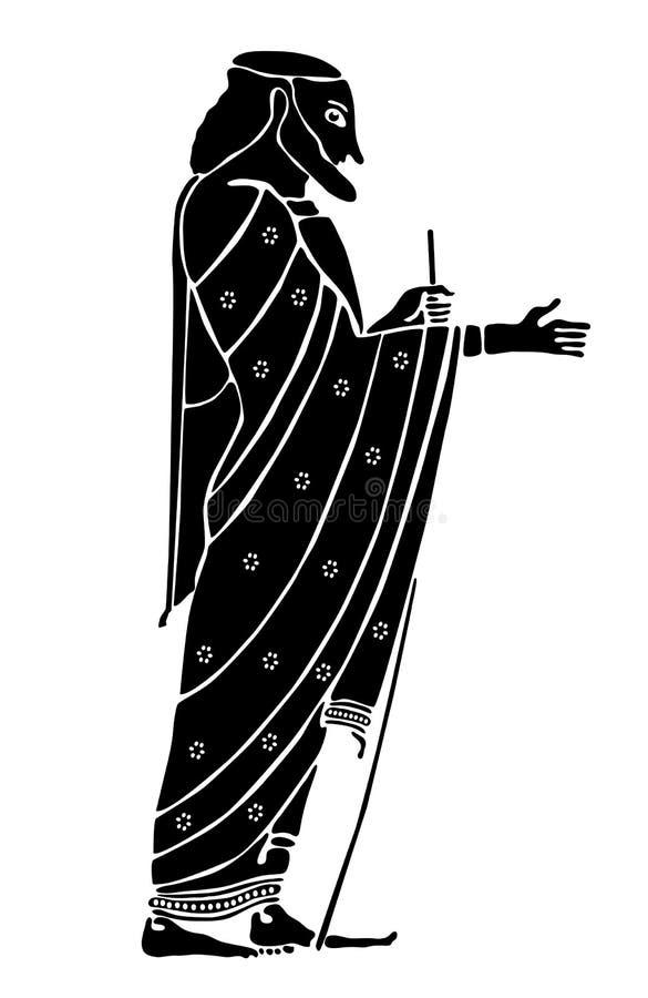 Homem sábio grego ilustração royalty free