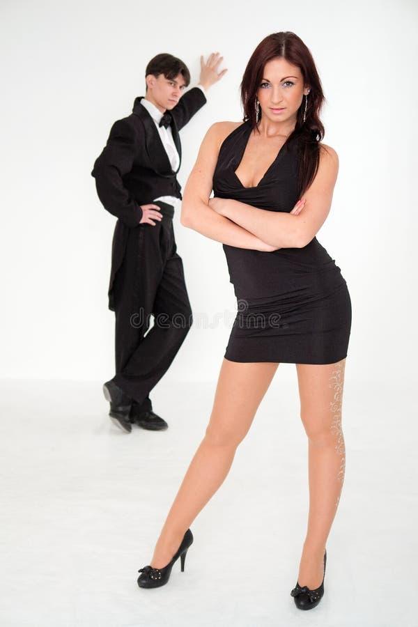 Homem sério e mulher charming foto de stock royalty free