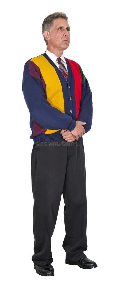 Homem sério, roupa ocasional de negócio, isolada fotos de stock royalty free