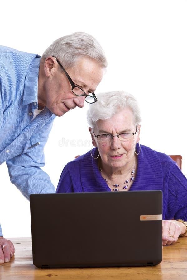 Homem sênior e mulher fotografia de stock royalty free