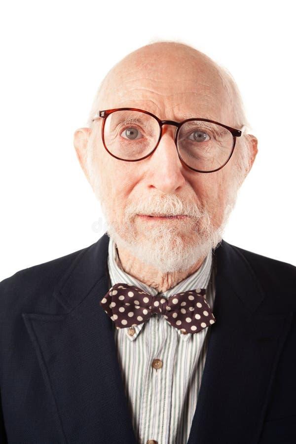 Homem sênior expressivo foto de stock royalty free