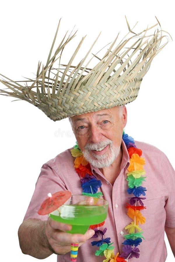 Homem sênior tropical fotos de stock royalty free