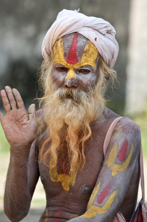 Homem santamente de Sadhu fotografia de stock