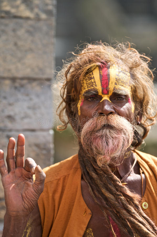 Homem santamente de Sadhu fotografia de stock royalty free