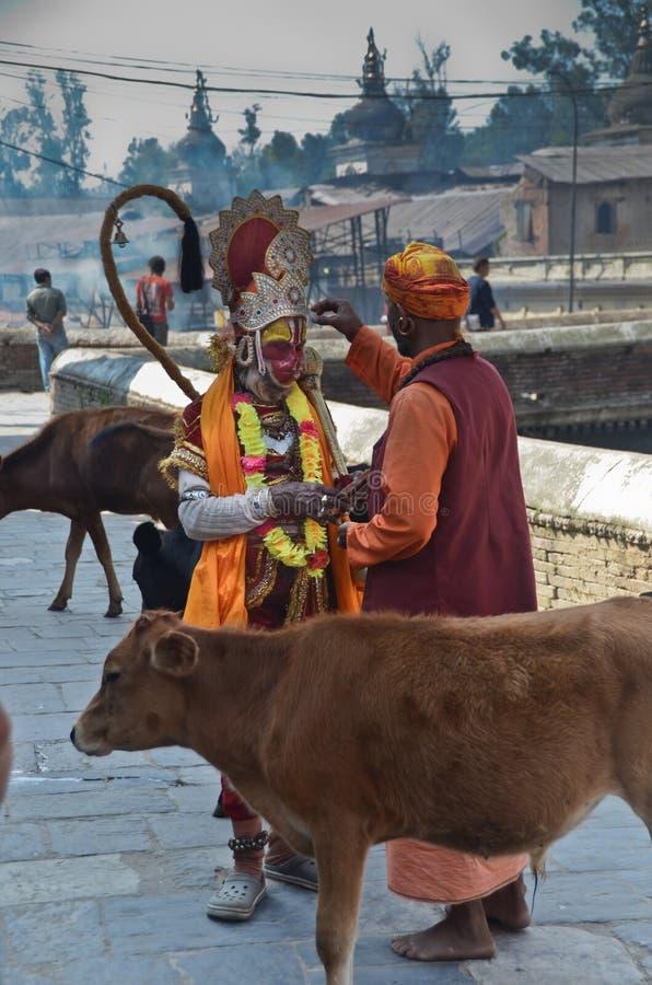 Homem santamente do Nepali fotografia de stock