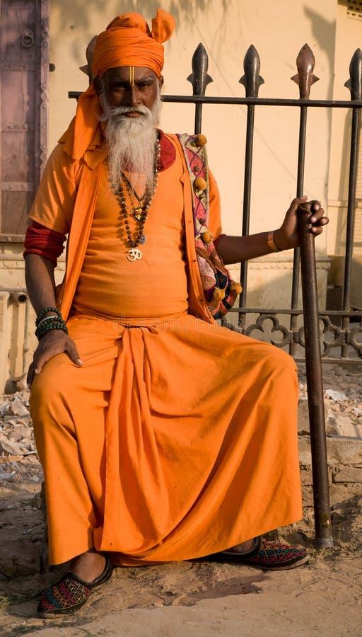 Homem santamente em Jaipur fotografia de stock royalty free