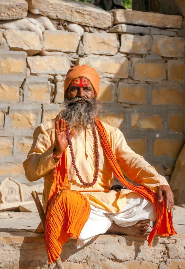Homem santamente indiano imagem de stock royalty free