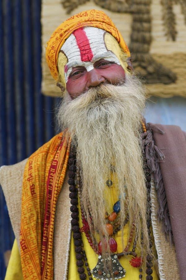 Homem santamente Kathmandu de Sadhu foto de stock