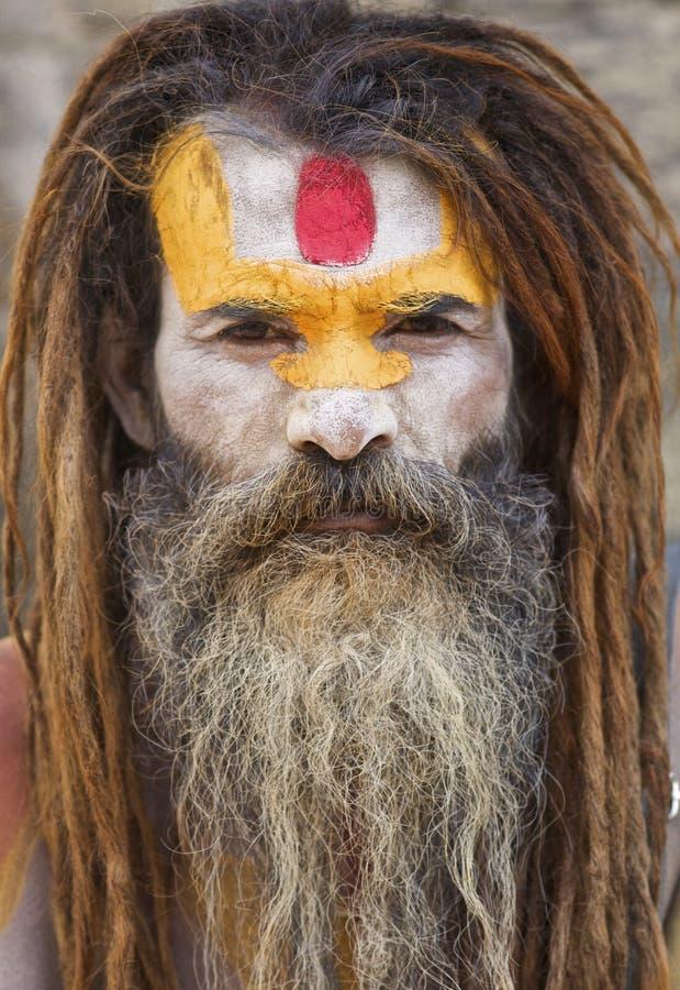 Homem santamente Kathmandu de Sadhu imagem de stock