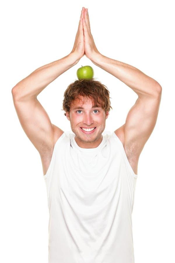 Homem saudável engraçado da aptidão foto de stock