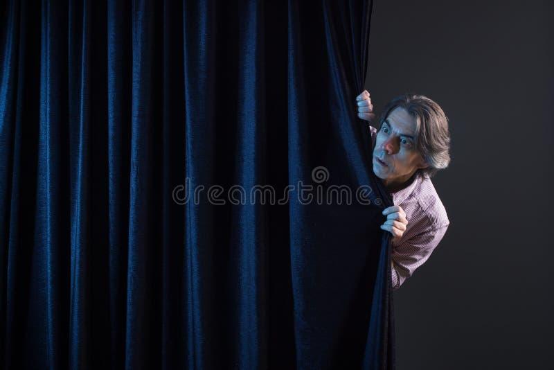 Homem Scared fotos de stock royalty free
